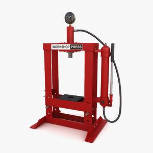 3D hydraulic bench press model