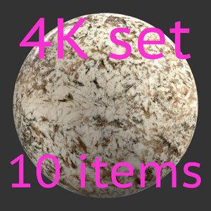 Stone light 4K Texture set 10 items
