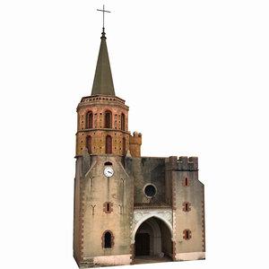 3D church scene model