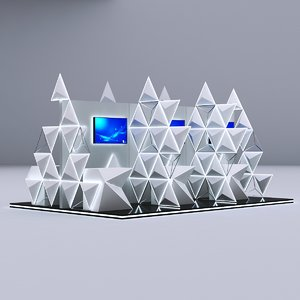 3D modular booth design