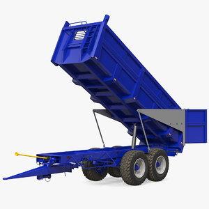 body tipper trailer clean 3D model
