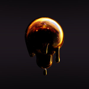 sculpting dripping lightbulb model
