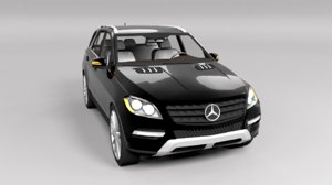 3D mercedes ml 2012 model