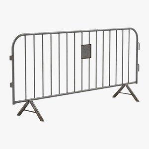 3D barrier barricade