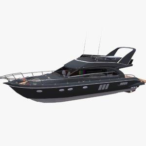 yacht boat pbr 3D model