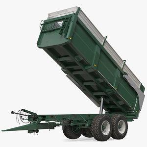 agricultural tipper trailer clean model