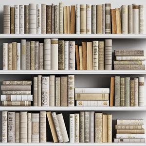 3D classic books model