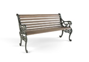 london street vintage bench 3D model