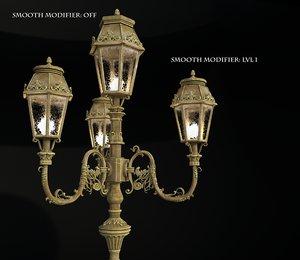 vintage london street light 3D model