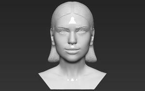 3D dua lipa bust printing
