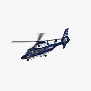3D as365 dauphin police helicopter model