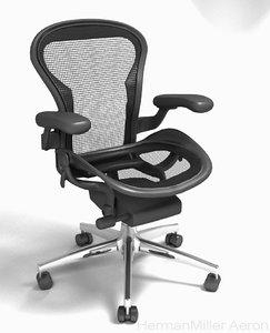 3D model herman miller aeron desk chair