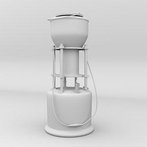 3D old kerosin stove modeled
