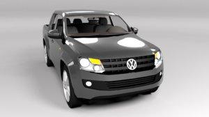 3D model volkswagen amarok