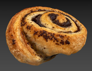 sweetroll roll 3D model