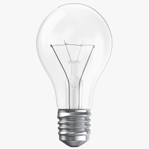 real light bulb model