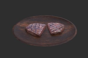 3D chopped grilled steak