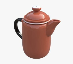 3D porcelain kettle