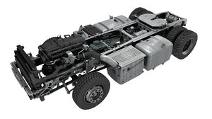 3D truck chassis