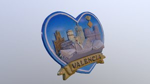 3D model city valencia spain magnet