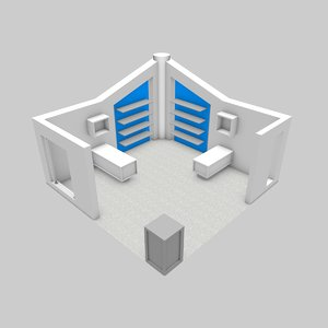 stand exhibits 3D model