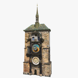 astronomical clock prague 3D model