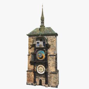 astronomical clock prague 3D model