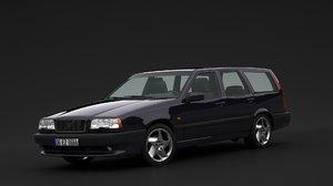 850 station wagon 3D model