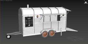 3D version horse trailer food model