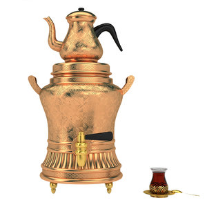 luxury turkish arabic tea 3D model