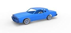 3D model diecast shell car