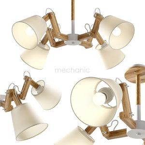 3D pendant light 4 mechanic model
