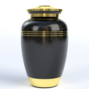 ashes cinerary urn 3D