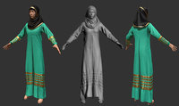 Arab costume cloth for game ready