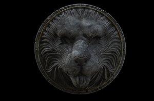 lion shield 3D model