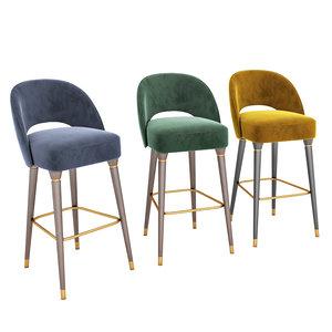 collins bar chair essential 3D
