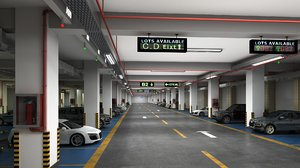 parking interior cars 3D model