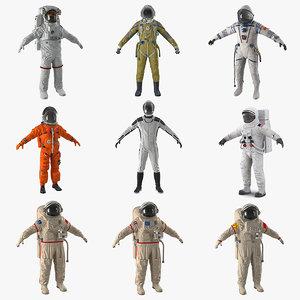 3D model space suits 5