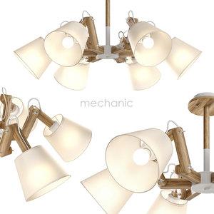 pendant light 6 mechanic 3D model
