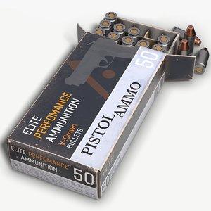 pistol ammo pbr ready 3D model