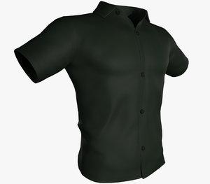 green summer shirt model