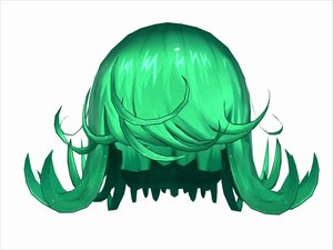 3D anime hair model