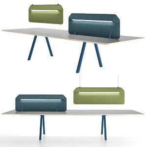 devorm modular table 3D model