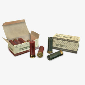 shells 12 gauge ammunition 3D