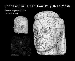 head girl teenage 3D