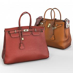 3D hermes handbag model