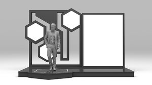 3D stand booth digital model
