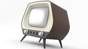 tv old retro 3D
