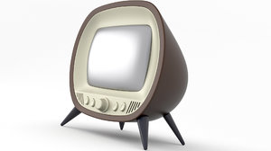 tv old retro 3D model