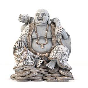 3D laughing buddha